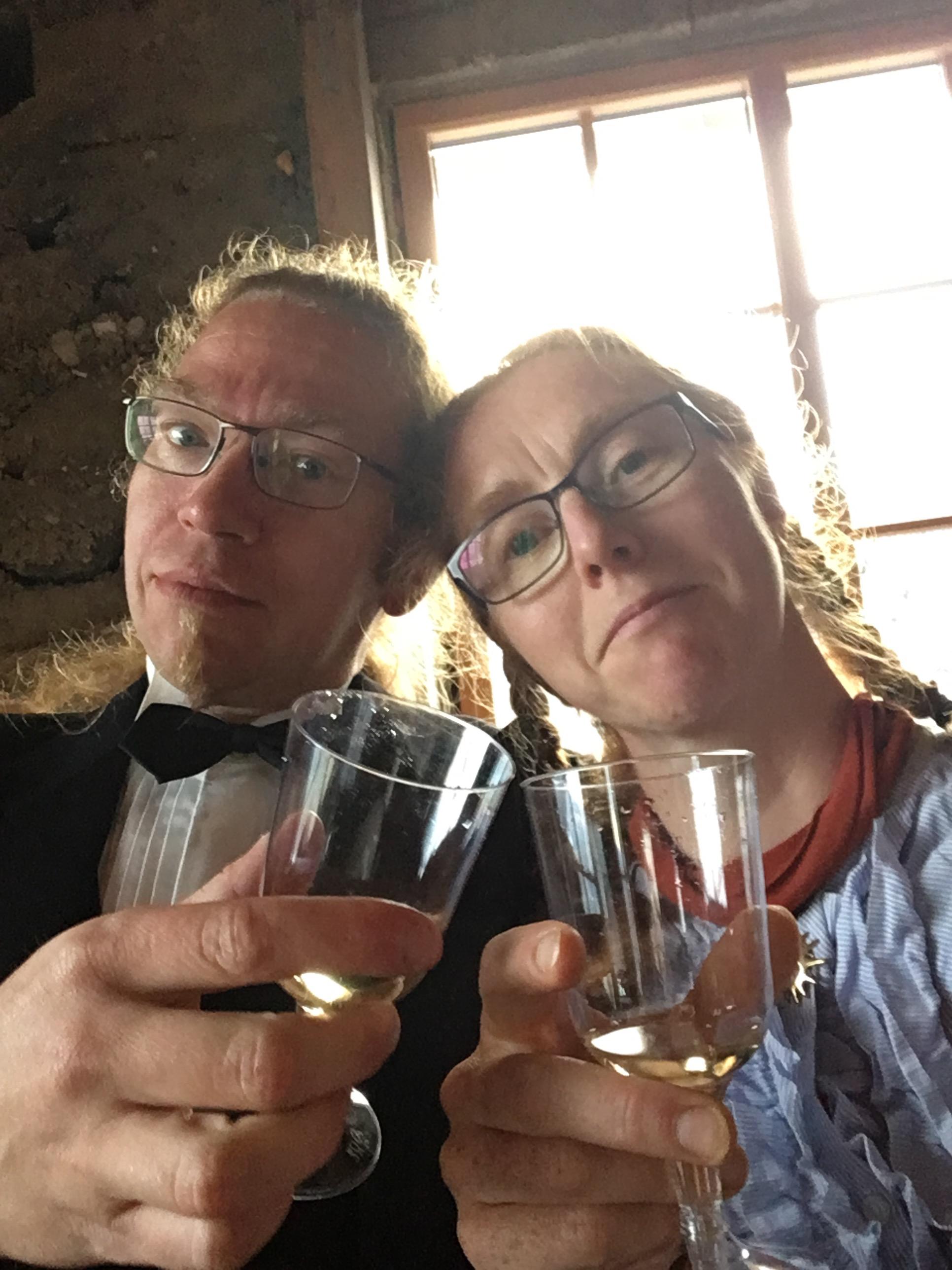 tillykke balloner champagne